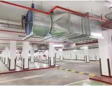 Jet Fan Ventilation System For Basement Car Park